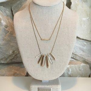 Stella & Dot Gold Rebel Cluster Necklace
